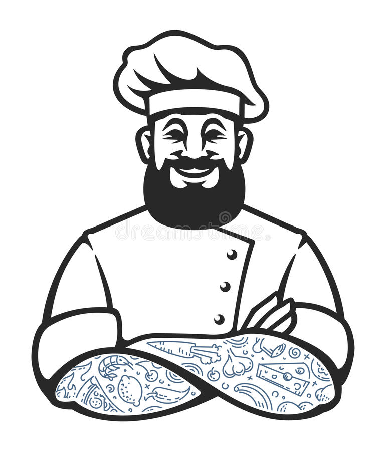 Chef Vector Icon de hippie illustration stock