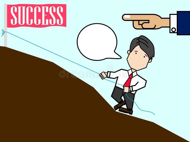 Chef- vingeruiteinden om werknemerszakenman te helpen stock illustratie