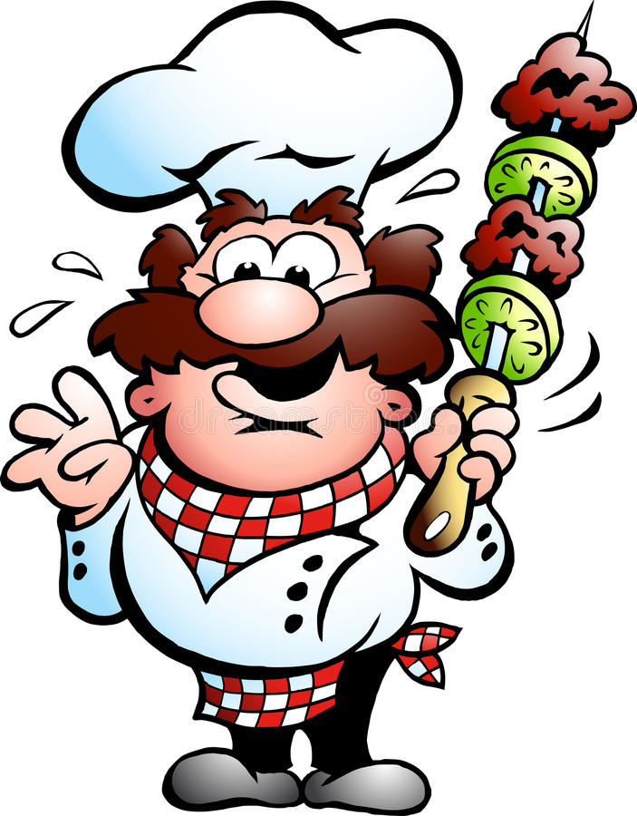 Free Chef With A Kebab Skewer Stock Image - 19837421