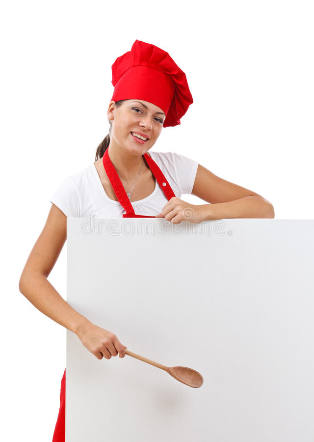 Chef woman royalty free stock image