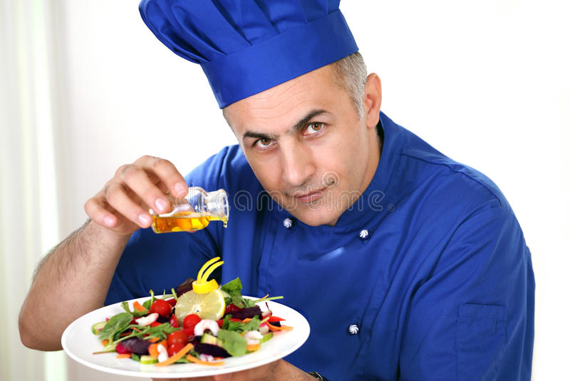 Chef at work royalty free stock photos