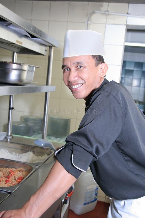 Chef at work stock photo