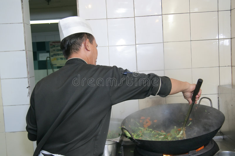 Chef at work stock images