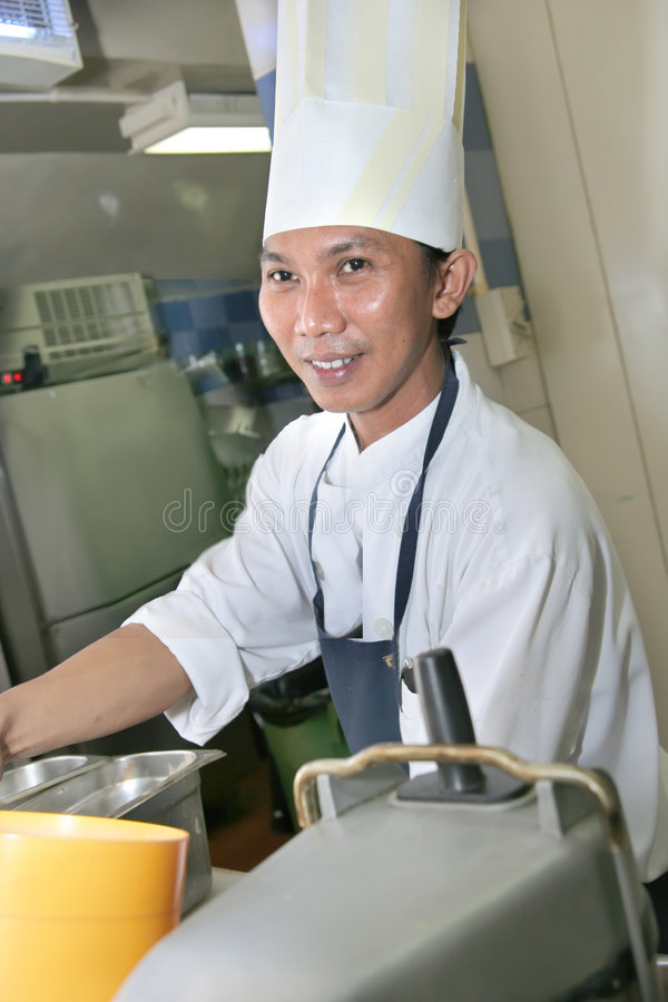 Download Chef at work stock photo. Image of restaurant, asian, kitchen - 7466634