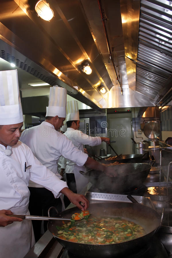 Download Chef Working In The Kitchen Stock Image - Image: 9630939