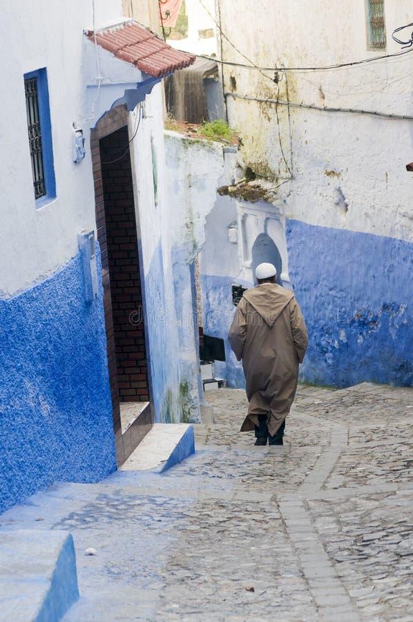 Chefchaouen, σκηνή του Μαρόκου στοκ φωτογραφία με δικαίωμα ελεύθερης χρήσης