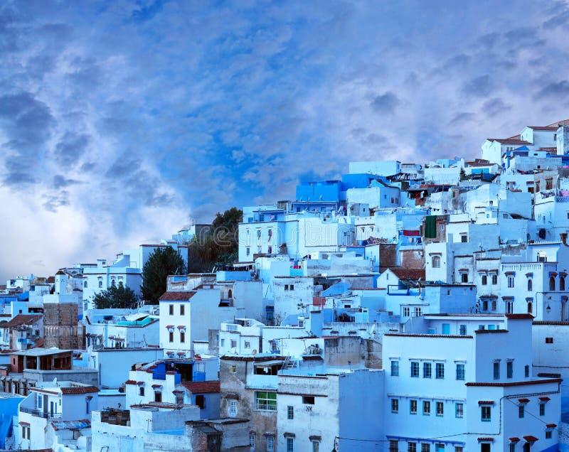 Chefchaouen blått medina i Marocko, Afrika royaltyfri fotografi