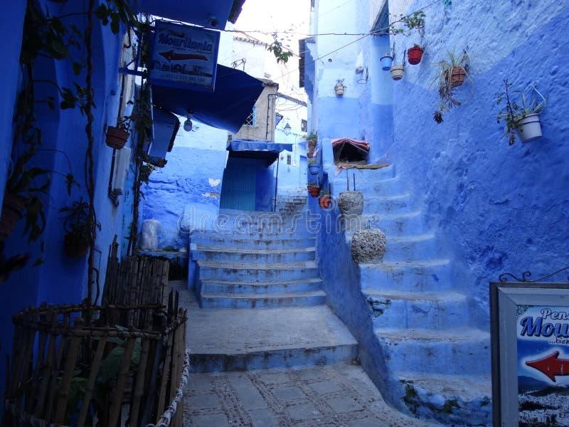 Chefchaouen, città blu del Marocco immagini stock libere da diritti