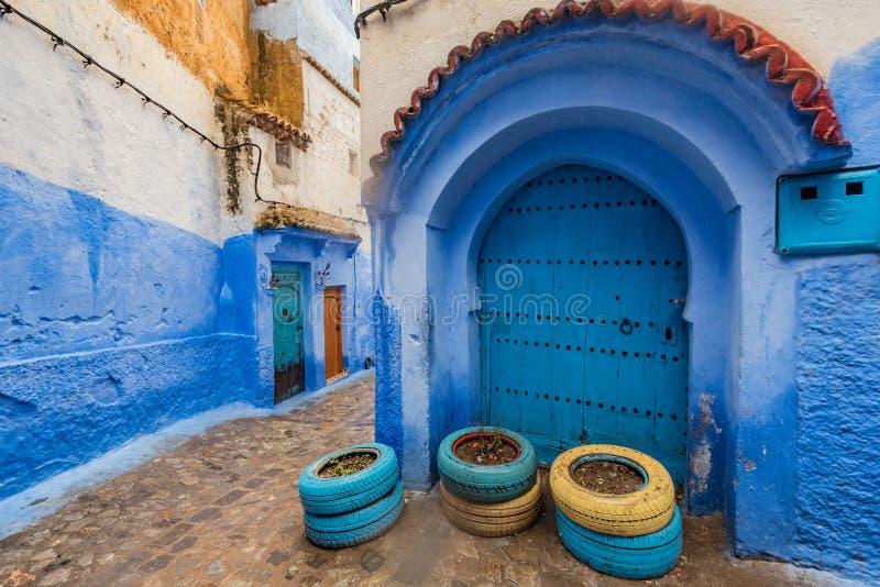 Chefchaouen, die blaue Stadt Marokkos lizenzfreies stockfoto