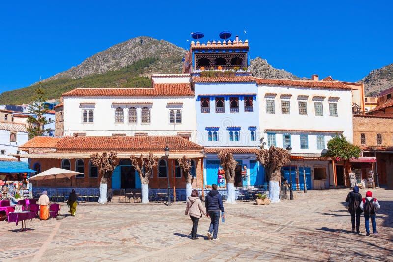 Chefchaouen em Marrocos fotos de stock