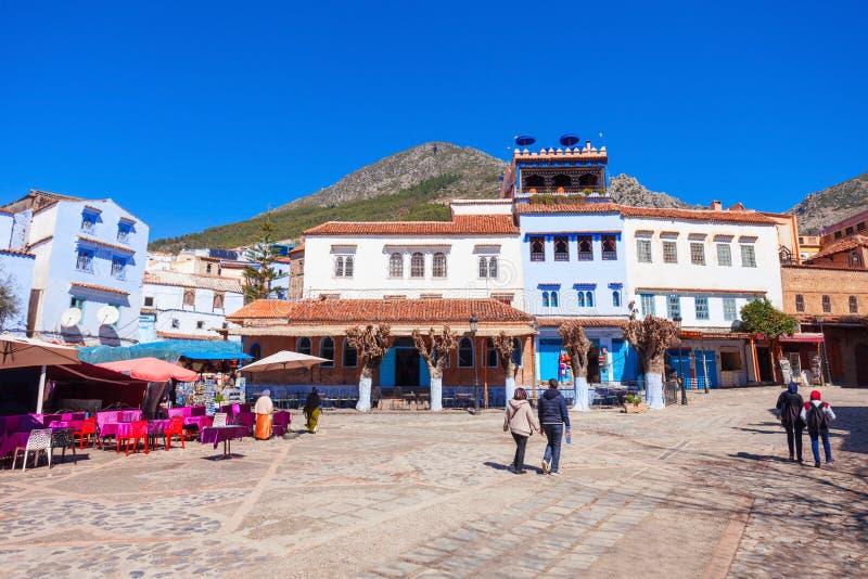 Chefchaouen em Marrocos fotos de stock royalty free
