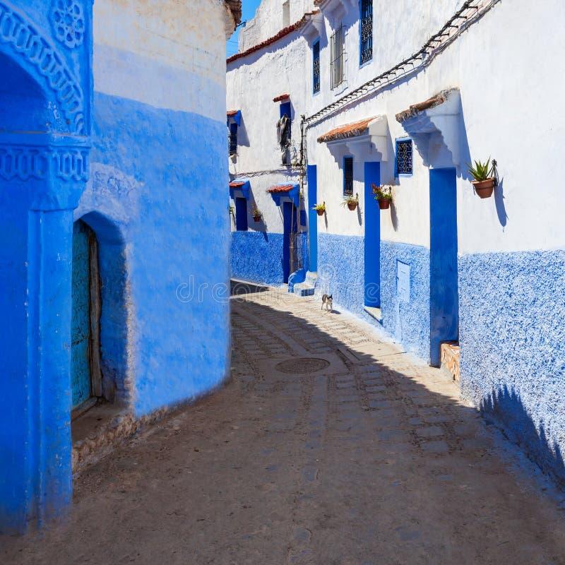 Chefchaouen i Marocko royaltyfri fotografi