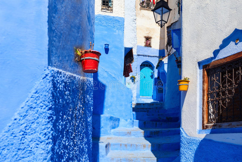 Chefchaouen i Marocko royaltyfria foton
