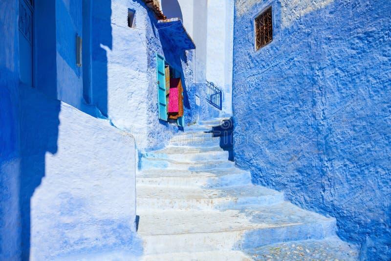 Chefchaouen i Marocko fotografering för bildbyråer
