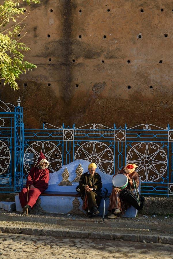 Chefchaouen, la ciudad azul en el Marruecos imagenes de archivo