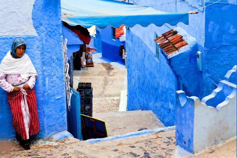 Chefchaouen Medina azul, Marrocos imagem de stock royalty free