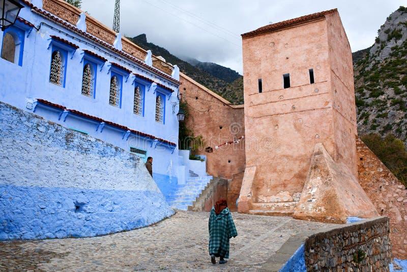 Chefchaouen Medina, Marrocos imagens de stock royalty free