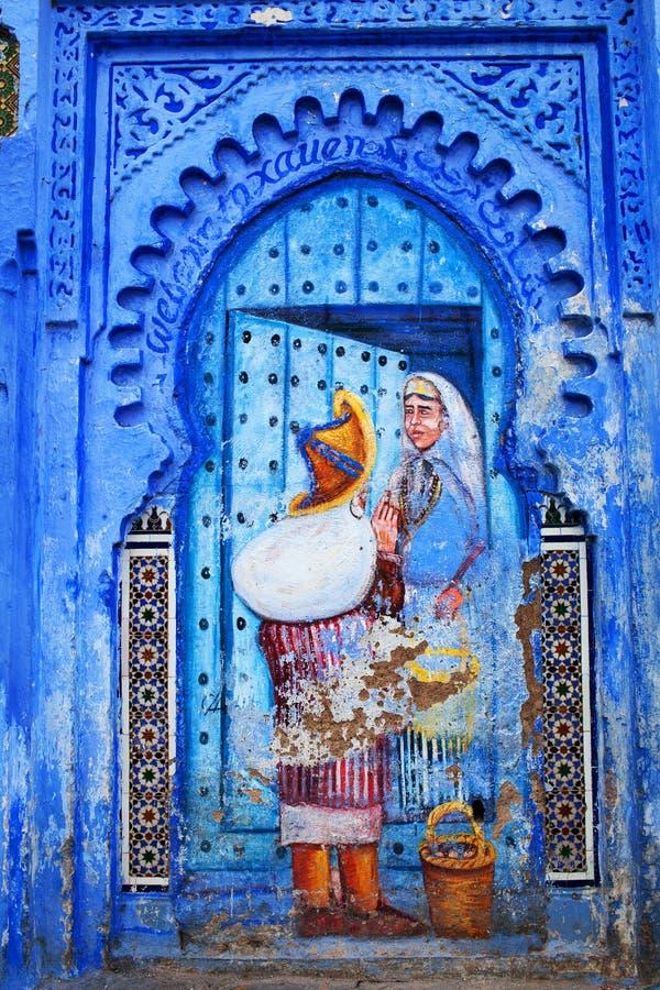 Chefchaouen medina, Marrocos fotografia de stock royalty free