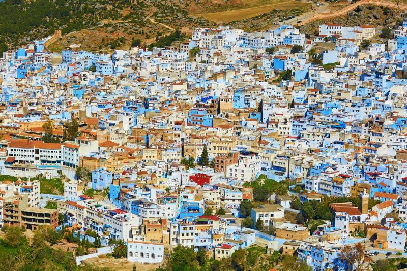 Chefchaouen, miasteczko znać dla swój błękitnych domów zdjęcia royalty free