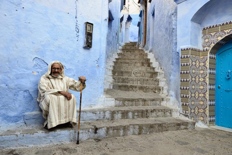 chefchaouen morocco royaltyfria bilder