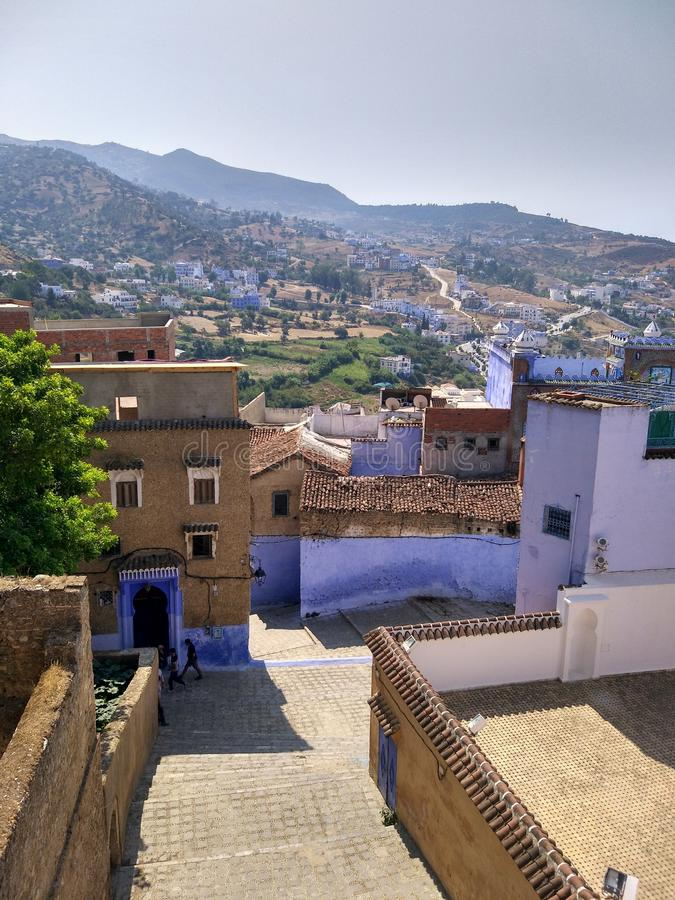 View of Chefchaouen stock photo