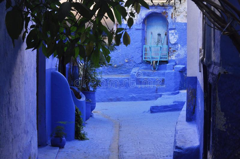 Chefchaouen town, Morocco. Traditional moroccan architectural details in Chefchaouen, Morocco, Africa royalty free stock image
