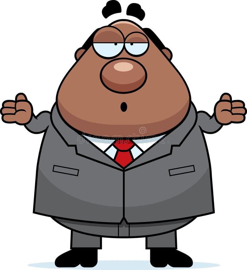 Chefe Confused dos desenhos animados ilustração do vetor
