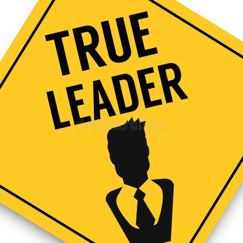 Chefe contra o líder, cartaz da imagem do negócio, qualidade super ilustração do vetor