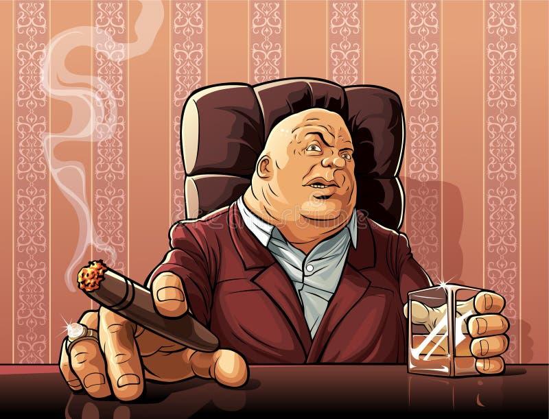 Chefe da máfia ilustração royalty free