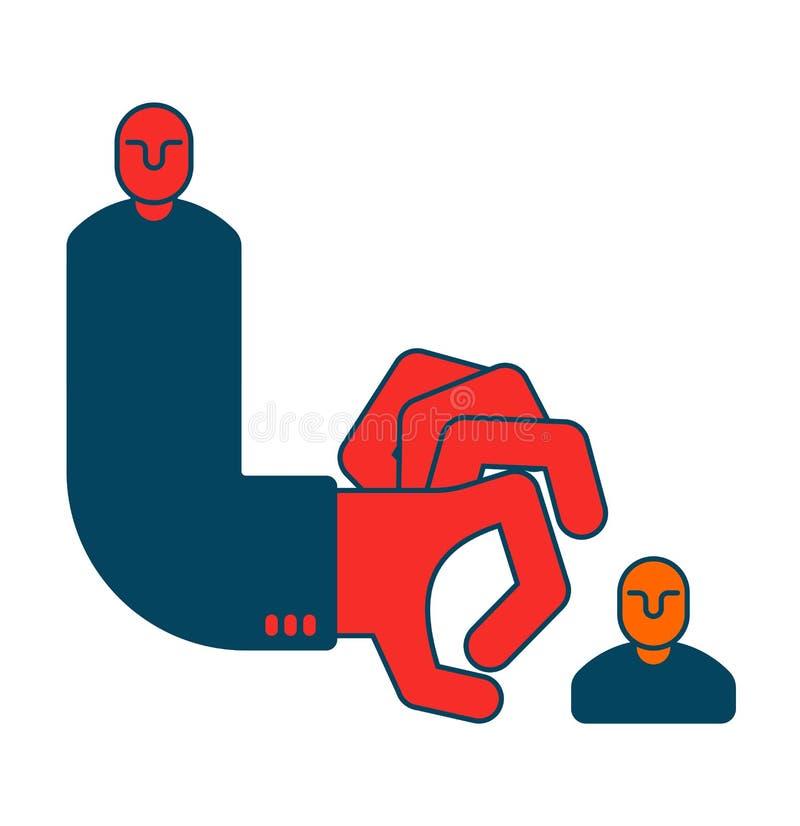 Chefe dos dedos do súbito da destituição Dedos agarrados mão Engodo do negócio ilustração royalty free