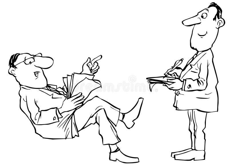 Chefe e secretária ilustração royalty free