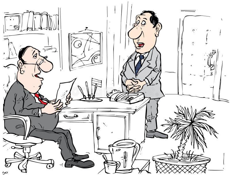 Chefe e secretária ilustração stock