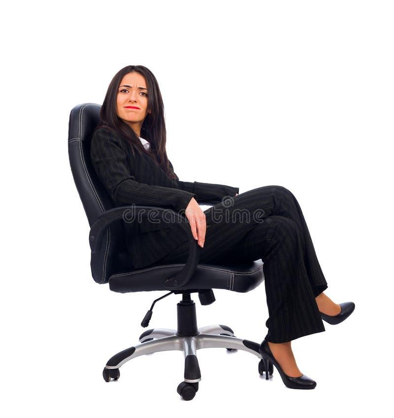 Chefe Refusing da mulher imagens de stock royalty free