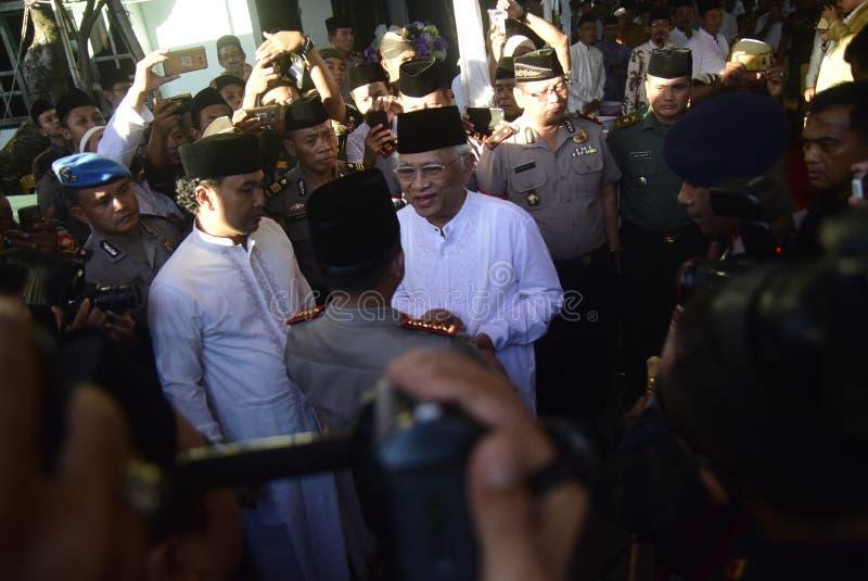Chefen av polisen Tito Karnavian besökte Pondoken Pesantren Raudlatut Thalibin Rembang arkivfoton