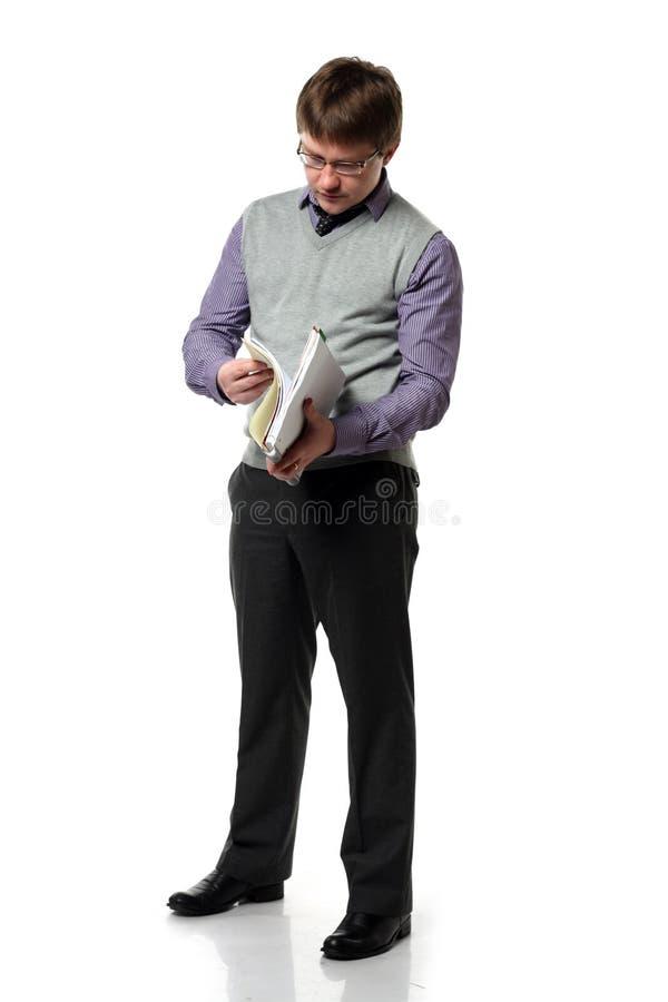 chefen papers barn royaltyfri bild
