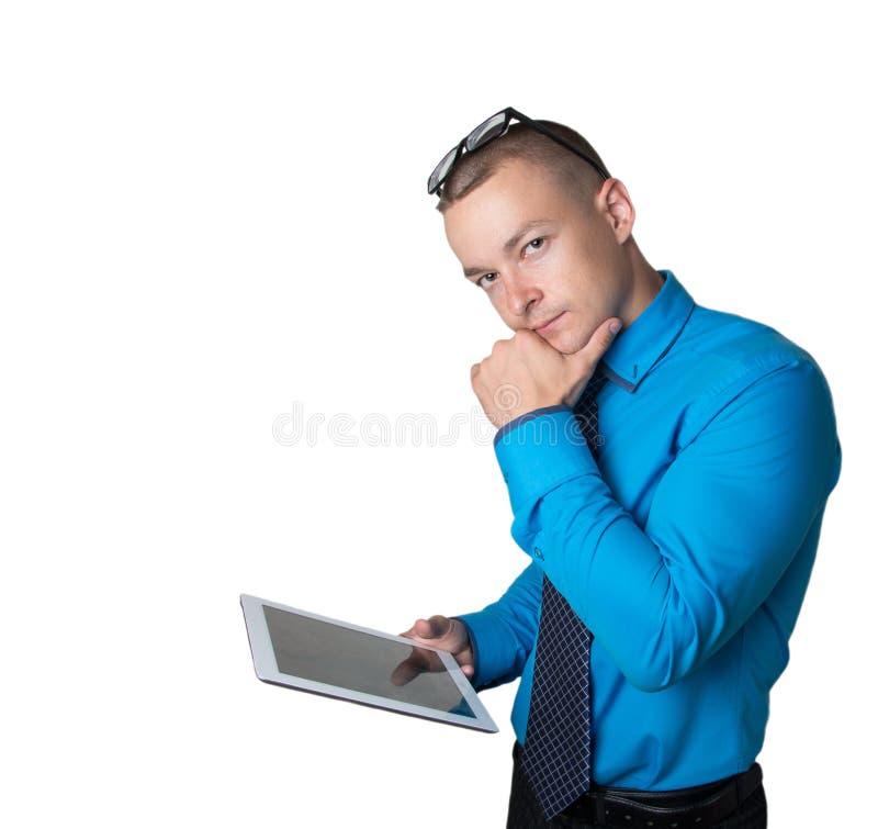 Chefen reflekterar på uppgiften arkivfoto