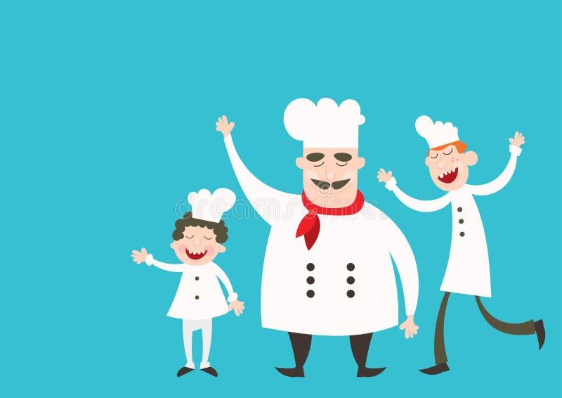 cheff dos desenhos animados 3d ilustração royalty free