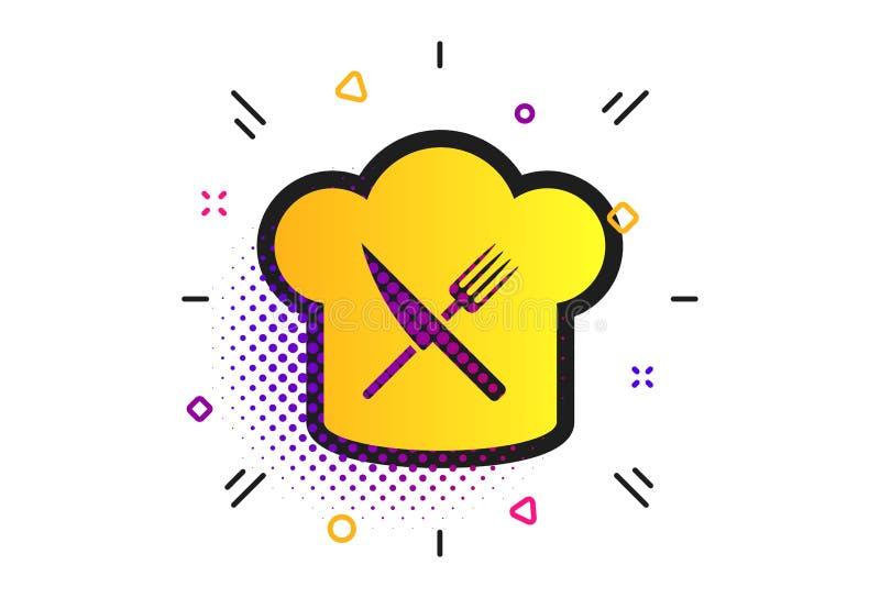Chefhut-Zeichenikone Kochen des Symbols Vektor lizenzfreie abbildung