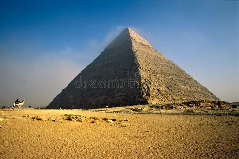 chefren埃及吉萨棉金字塔 库存照片