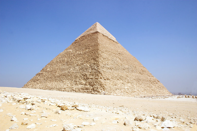 Chefren. Old Pyramid of Chefren - Giza stock photo