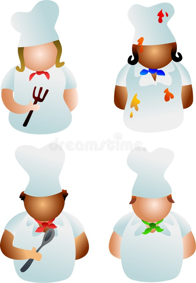 Chefs stock illustration