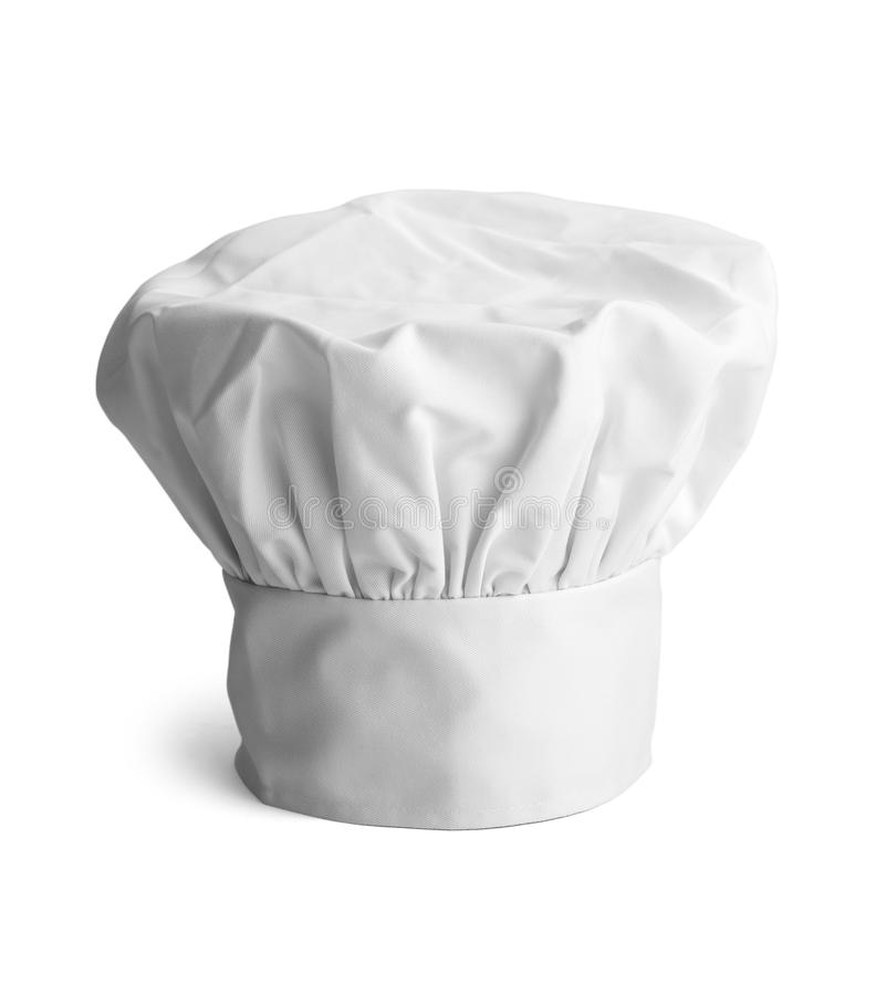 Chefs Hat. White cooks cap isolated on white background royalty free stock images