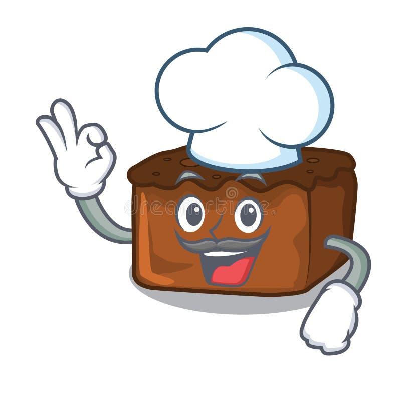 Chefschokoladenkuchencharakter-Karikaturart vektor abbildung