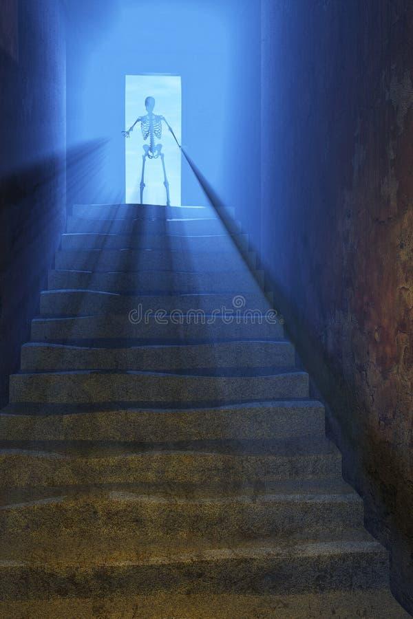 A chegada da morte ilustração royalty free