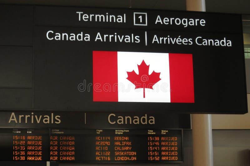 Chegada de Canadá fotos de stock