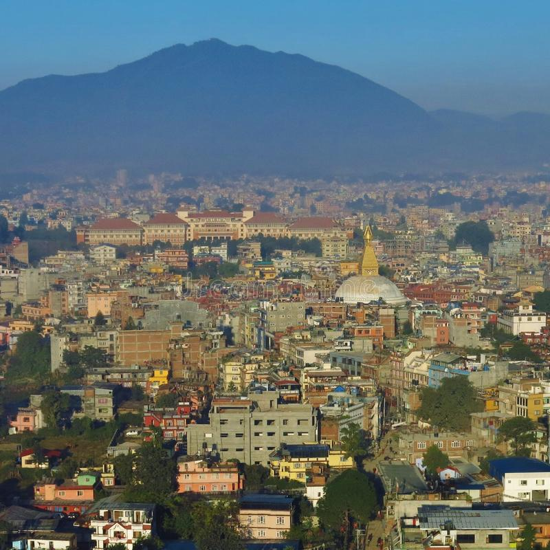 Chegada em Kathmandu, Nepal fotos de stock royalty free