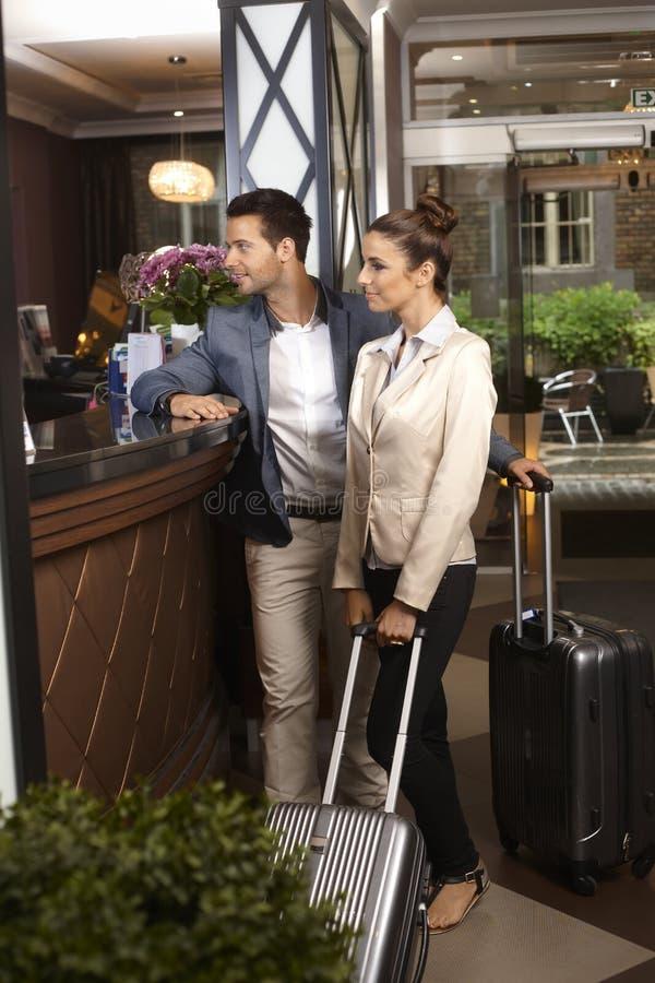 Chegada no hotel foto de stock royalty free