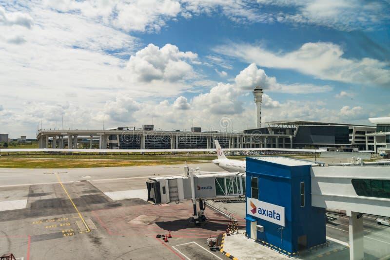 Chegada Salão em Kuala Lumpur International Airport 2 Malásia fotografia de stock