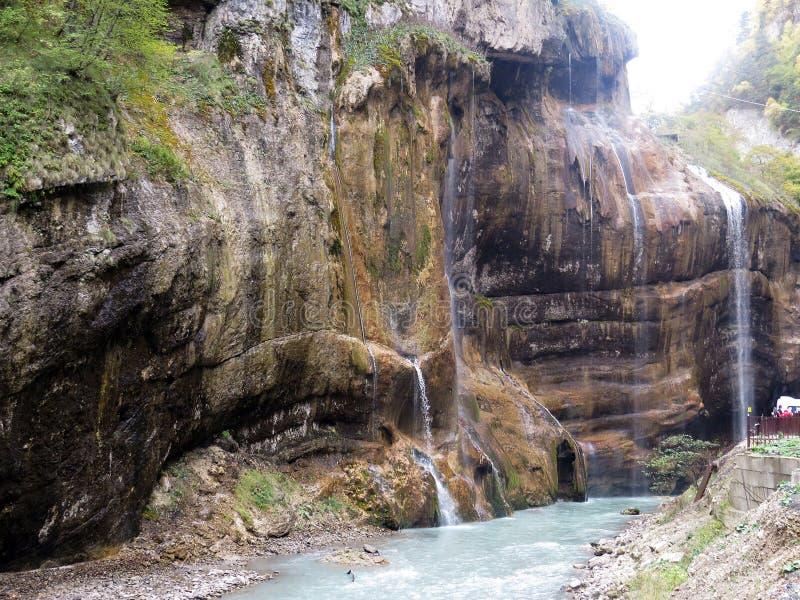 Chegemwatervallen stock afbeeldingen