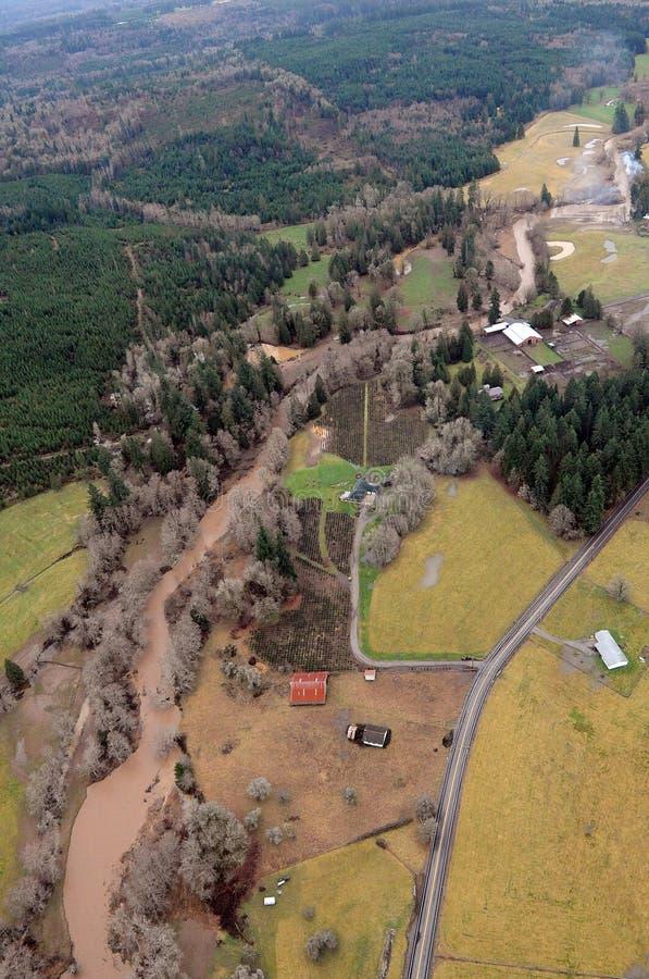 Chehalis River, Washington state. Washington state farmland is abundant in the region's many river valleys stock images